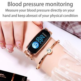 rate android mobiles UK - New Smart Watch AK16 Sport Smart Bracelet IP67 Waterproof Heart Rate Monitor For Android Mobile Phone Fitness Bracelet Smartwatch For Women