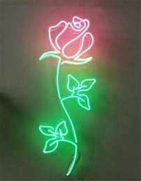 New Star Neon Sign Factory 24 pulgadas Real Glass Letrero de neón para Beer Bar Pub Garage Room Rose Flower.