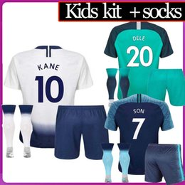 beefdb829 Top thailand quality KANE spurs Soccer Jersey 2018 2019 LAMELA ERIKSEN DELE  SON jersey 18 19 Football kit shirt KIDS KIT SET uniform