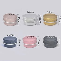 $enCountryForm.capitalKeyWord NZ - 5G Colorful aluminum jar 5100pcs gold, pink, black, rose gold jar stock metal containers empty metal bottle