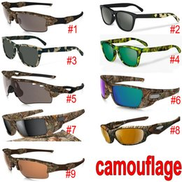 Styrene glaSS online shopping - New Camouflage Camo Designer Sunglasses sunglasses Eyewear Sun glass frame sunglasses models with zipper case packages