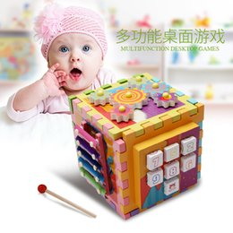 $enCountryForm.capitalKeyWord Australia - New 6-in-1 Shape Geometry Treasure Box Building Blocks Wood Multi-function Board Game Enlightenment Puzzle Early Learning toys