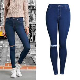 $enCountryForm.capitalKeyWord Australia - 2018 Vintage Hole Jeans Women Destroyed Pants Bleached Denim Pants Plus Size Jeans Skinny Trousers Girls