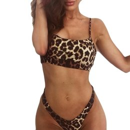 $enCountryForm.capitalKeyWord Australia - Low Waist swimwear women Women Bikini Set Leopard Print Push-Up Padded Bra Beach Swimsuit maillot de bain femme # BB