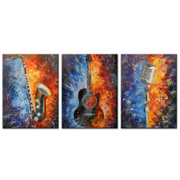 Musical Art Australia - Unframed 3 Pieces Canvas Wall Art Musical Instrument Decoration Paintings Canvas for Paints Home BedRoom Decor Artworks for Christmas Gift