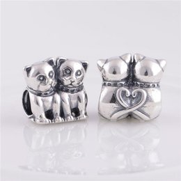 sterling silver european stoppers UK - 925 Sterling Silver beads fit pandora bracelets jewelry Authentic New Cats Screw Core Stopper Charm ,DIY making With european Women Bracelet