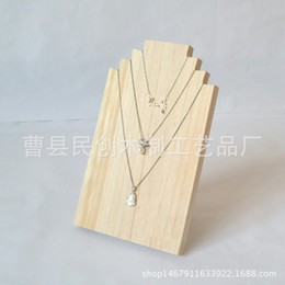 $enCountryForm.capitalKeyWord Australia - Log jewelry necklace display rack jewelry pendant window wooden display solid wood ornaments silver Jewelry