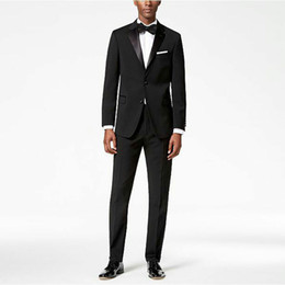 Wholesale italian wool pants resale online - Italian Black Men Suits for Wedding Terno Masculino Piece Jacket Pants Groom Tuxedo Suits Best Men Blazers Satin Notch Lapel Costume Homme