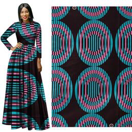 Wholesale Batik Fabric Australia - New arrive soft cotton Fabric Fashion African Wax Print Fabric circle partern Ankara African Batik Fabric for party dress