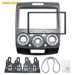 dash stereos 2019 - FEELDO 2DIN Grey Car Refitting Stereo DVD Frame Fascia Dash Panel Installation Kits For Ford Everest Ranger Mazda BT-50