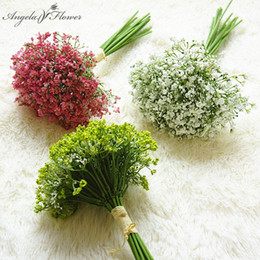 plastic christmas decor plants Canada - Night scent 30cm artificial babies breath flower gypsophila plastic flower plant home hotel Christmas decor wedding bouquet gift