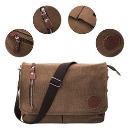 e6c91c9ab61b Canvas Leather Crossbody Bags Men Messenger Shoulder for man bolsa handbags  quality luxury designer big masculina