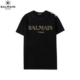 Wholesale men flower print shirt for sale – dress Summer Street Wear Designers T shirts Men Luxury Brand Tshirt Mens Casual Tee Shirt Fashion Print Crew Neck Cotton Tshirt M Balmain XL