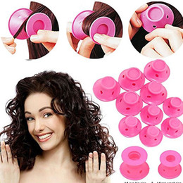 $enCountryForm.capitalKeyWord Australia - 10 PCs bendy magic spiral hair curlers rollers silicone curler soft rubber curl tools no heat curling ladies roller for curly