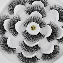 $enCountryForm.capitalKeyWord NZ - 7 Pairs 3D Mink Hair Handmade False Eyelashes Wispy Long Flared Crisscross Natural Eye Makeup Tools Mink Hair Eyelashes