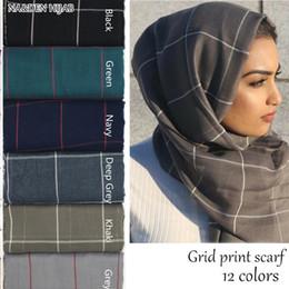 $enCountryForm.capitalKeyWord Australia - Women Plaid scarf cotton viscose grid shawl cosy fashion classic scarves and shawls elegant TR cotton muslim hijab scarfs