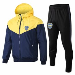 Gore Tex Xcr Jacket Australia - Top quality 18 19 new Boca Juniors Soccer jacket Windbreaker GAGO TEVEZ CARDONA BENEDETTO soccer tracksuit Boca Junior PAVON training suit