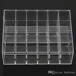 $enCountryForm.capitalKeyWord UK - Wholesale-Clear Acrylic 24 Lipstick Holder Display Stand Cosmetic Organizer Makeup Case # 9014 Fress shipping