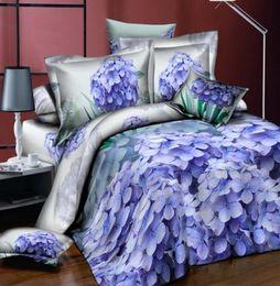 3d Bedding Set White Rose Australia - 3D Bedding Sets Colorful Peony Rose Flower Cotton 4Pcs Duvet Cover Flat Sheet Pillowcase Bedclothes King Size High Quality