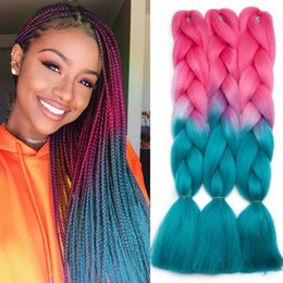 tone hair for braiding Australia - 24 Inches Ombre Jumbo Braids Hair Extensions 3pcs lot Synthetic Hair Extensions 3 Tone Braiding Hair Kanekalon Fiber For Twist Braids