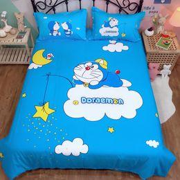 $enCountryForm.capitalKeyWord Australia - Cartoon Bedding Set Doraemon Kids boys 100% cotton quilt cover twin queen king cute Duvet Cover flat Sheet stars moon bedclothes