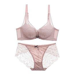 054eed27161 Women underwear set Sexy bra set comfortable cotton cup bra + transparent panty  set lace floral embroidery push up lingerie suits