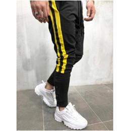 $enCountryForm.capitalKeyWord NZ - Men's casual sports pants and buckles decorated men's street dance printing jogging sports pants street slim trousers