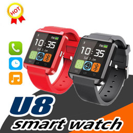 bluetooth smart watch sim Australia - U8 Smart watch Bluetooth Smartwatch Touch Screen Wrist Watches With SIM Card Intelligent Mobile Phone Watch For iPhone X Samsung S8 With Box