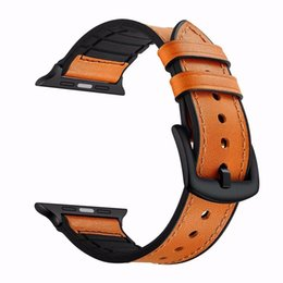 apple watch 38mm UK - High quality Watch Strap for iwatch 4 3 2 1 For Apple Watch Band leather loop 42mm 38mm 40mm 44mm
