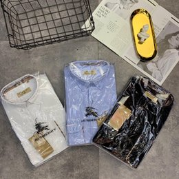 Man shirts double pockets online shopping - 19ss luxurious brand Design Pocket Double Classic Lattice bbr Women Men Casual Fashion Sweatshirts Streetwear Outdoor shirt
