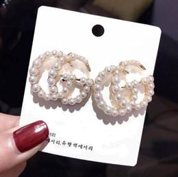 Vente en gros 83361 Boucles d'oreilles vintage pour les femmes de couleur d'or Boucles d'oreilles Déclaration géométriques 2019 Earing métal Bijoux Tendance Hanging