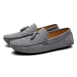 8c5f360d Zapatos de conducción ocasionales Mocasines de cuero genuino Hombres de  negocios Zapatos Hombres Mocasines Lujo Suave Cómodo Pisos Barco