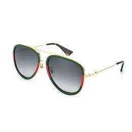 Women's Fashion Red Green Splice Striped Sunglasses Popular Outdoor Vacation Lovers Sun Glasses Lady Beach Party Eyewear from motorcycle sun glasses suppliers