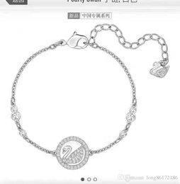 Chain Counter Australia - Designer Luxury Diamond Bracelet Swan Bracelet 2019 Luxury Fashion Accessories Women's Jewelry Diamond 18K Gold Counter