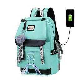 $enCountryForm.capitalKeyWord NZ - WENYUJH Large Usb School Bags Teenage Girls Lock Anti Theft Backpack Women Book Bag Big High School Bag Youth Leisure College