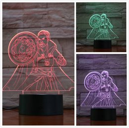 Ancient Lamps Australia - Marvel The Avengers super heroe Doctor Strange Figure 3D Illusion Usb 3d led night light Ancient One RGB table lamp bedroom neon
