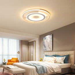 $enCountryForm.capitalKeyWord Australia - LED ceiling light Acrylic Creative Round Slim LED Ceiling Light Bedroom Living Room Home Indoor Lighting RC Dimmable Pendant Lamps