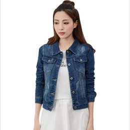Discount vintage clothing for women - Brand Spirng Autumn New Denim Jacket For Women Fashion Casual Vintage Jeans Clothes Jacket Women Patchwork Single Breast