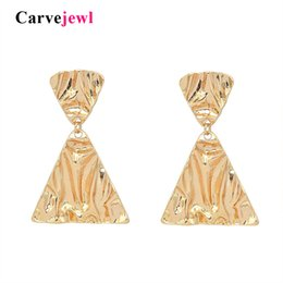 $enCountryForm.capitalKeyWord Australia - Carvejewl big chunky earrings double triangles pendant drop dangle earrings For Women jewelry unique fashion European