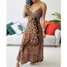 night butterfly dress Canada - Dresses Females Feashion Night Club Clothes Womens Butterfly Leopard Print Dress Summer Designer V Neck Spaghetti Strap Sexy