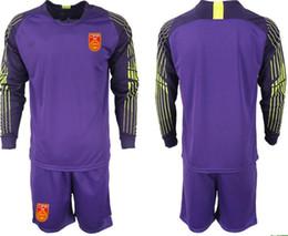 1819 Men China Soccer Jersey Shirts KIDS Short Sleeve Uniforms Football  Sets ZENG G. WANG D.L. YAN J.L. Long Sleeve kids goalkeeper kit d8962c166
