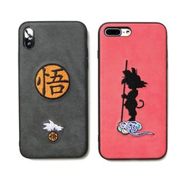 embroidered cloth NZ - Dragon Ball Wukong Phone Case Embroidered Cloth For Iphone Xr 6 7 8 X Plus Xs Max All-Inclusive Soft Edge Cell Phone Cases