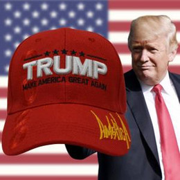 Black BaseBall caps online shopping - Donald Trump Baseball Cap outdoor embroidery Make America Great Again hat Republican hat Mesh sports cap USA Flag AAA1777