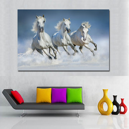 horse run painting Australia - 1 Piece HD Horse Prints Posters Print Horse Running Animal Art Painting Big Canvas Painting No Frames Living Room Home No Frame