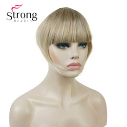 $enCountryForm.capitalKeyWord Australia - Synthetic Thin Neat Air Bangs Clip In Fringe Front Hair Temple Bangs Hair Extensions Hair Piece COLOUR CHOICES