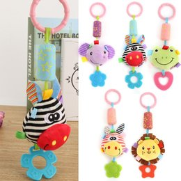 Cute Baby Rattle Australia - Cute Baby Kids Rattle Toys Tinkle Hand Bell Multifunctional Plush Stroller Hanging Rattles Kawaii Baby Infant Toy Gifts