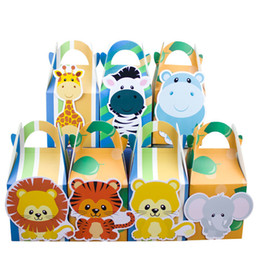$enCountryForm.capitalKeyWord Australia - Safari Animals Favor Candy Gift Bags Cupcake Box Wrapping Boy Kids Birthday Decoration Event Party Supplies Q190603