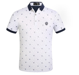 Polyester Mens Polo Shirts UK - 2019 Hot sale new Luxury Mens Designer Polo T shirts Summer Short Sleeved Turn Down Collar Short Sleeved Tops Polo Shirts