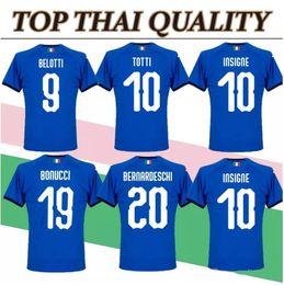f212fbe43 Buffon Verratti Italy 2018 2019 Soccer Jersey 18 19 De Rossi Bonucci  Chiellini INSIGNE Jerseys Italy World Cup Football shirts