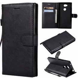 Color Leather Bags Australia - For Sony Xperia L3 Case Flip Cover Wallet Stand Pure Color PU Leather Mobile Phone Bags Coque Fundas